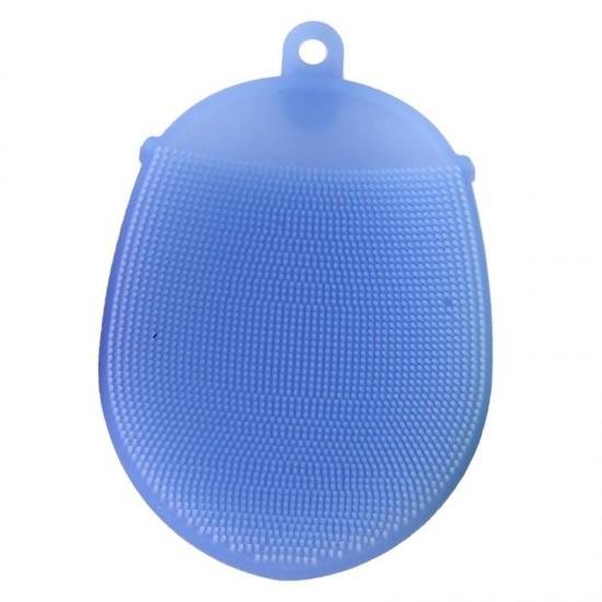 Szilikon ujjra húzható mosogatószivacs Kék