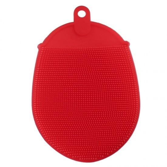 Szilikon ujjra húzható mosogatószivacs Piros