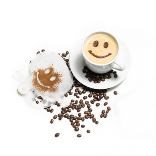 Latte art barista sablon, kávé díszítõ sablon