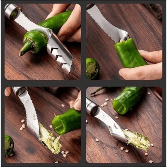Paprika csumázó kés rozsdamentes acélból