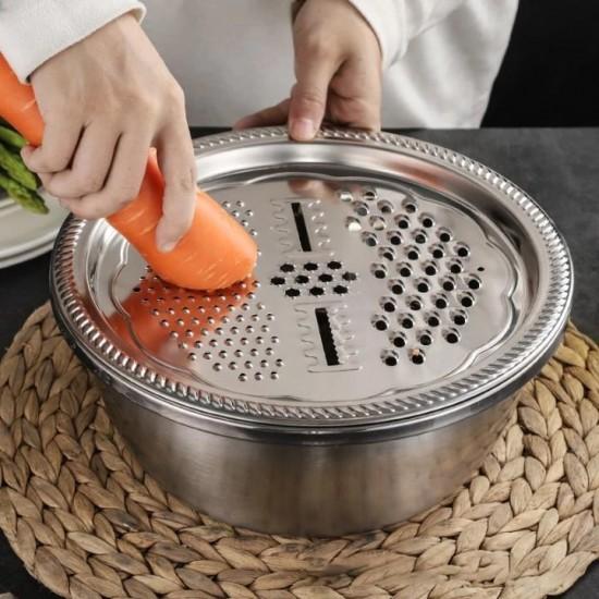 Keverő tál kiegészítőkkel (rozsdamentes acél)