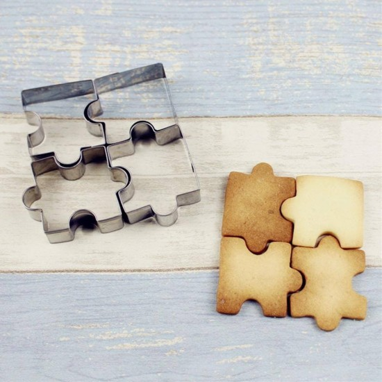 Puzzle keksz forma (4 db)