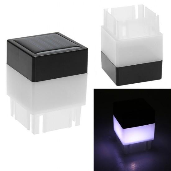 Vízálló napelemes LED kocka lámpa, kültéri dekoráció