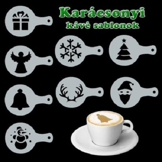 Karácsonyi kávé díszítő sablon